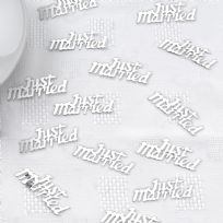 Silver Just Married Table Confetti (14g)
